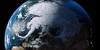 The Arctic and the Northern Hemisphere from space