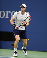 FLUSHING NY- SEPTEMBER 07: Andy Murray is annoyed by a Butterfly during his match against Kei Nishikori on Arthur Ashe Stadium at the USTA Billie Jean King National Tennis Center on September 7, 2016 in Flushing Queens. Credit: mpi04/MediaPunch