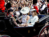 17 June 2017 - London, England - Princess and Eugenie and Princess Beatrice. The ceremony of the Trooping the Colour, marking the monarch's official birthday, in London. Photo Credit: PPE/face to face/AdMedia