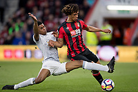 Marcus Rashford of Man Utd & Nathan Ake of AFC Bournemouth during the Premier League match between Bournemouth and Manchester United at the Goldsands Stadium, Bournemouth, England on 18 April 2018. Photo by Andy Rowland.