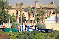 Shane Lowry (IRL) on the 10th tee during the preview for the DP World Tour Championship at the Earth course,  Jumeirah Golf Estates in Dubai, UAE,  18/11/2015.<br /> Picture: Golffile | Thos Caffrey<br /> <br /> All photo usage must carry mandatory copyright credit (&copy; Golffile | Thos Caffrey)