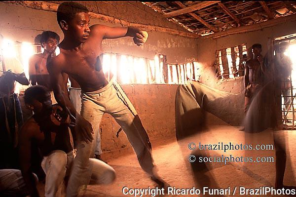 Capoeira. Afro-brazilian cultural traditions...Bahia, Brazil.