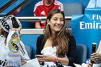 MADRI, ESPANHA, 13 DE MAIO 2012 - CAMPEONATO ESPANHOL - RODADA 38 - REAL MADRID X MALLORCA - Torcedores do Real Madrid momentos antes da partida contra o Mallorca em partida valida pela ultima rodada do Campeonato Espanhol, no Estadio Santiago Bernabeu em Madri capital da Espanha, neste domingo dia 13. (FOTO: WILLIAM VOLCOV / BRAZIL PHOTO PRESS).