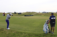 C.T. Pan (TAI) chips onto the 3rd green during Friday's Round 2 of the 117th U.S. Open Championship 2017 held at Erin Hills, Erin, Wisconsin, USA. 16th June 2017.<br /> Picture: Eoin Clarke | Golffile<br /> <br /> <br /> All photos usage must carry mandatory copyright credit (&copy; Golffile | Eoin Clarke)