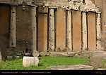 Doric columns Entablature Temple of Spes 254 BC South Wall San Nicola in Carcere Rome