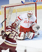 Dan Bertram, Charlie Effinger - The Boston College Eagles defeated the Miami University Redhawks 5-0 in their Northeast Regional Semi-Final matchup on Friday, March 24, 2006, at the DCU Center in Worcester, MA.