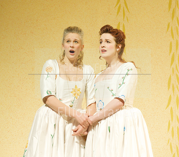Così fan tutte<br /> by Mozart<br /> English Touring Opera<br /> at Hackney Empire, Hackney, Great Britain <br /> 1st March 2013 <br /> <br /> <br /> Laura Mitchell<br /> as Fiordiligi<br /> <br /> Kitty Whately<br /> as Dorabella<br /> <br /> Anthony Gregory<br /> as Ferrando<br /> <br /> Toby Girling as Guglielmo<br /> <br /> Abigail Kelly <br /> as Despina<br /> <br /> Richard Mosely-Evans<br /> as Don Alfonso <br /> <br /> <br /> Photograph by Elliott Franks