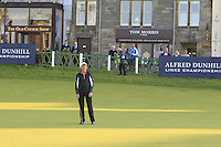Peter Lawrie (IRL) on the 18th green during Round 2 of the 2015 Alfred Dunhill Links Championship at Kingsbarns in Scotland on 2/10/15.<br /> Picture: Thos Caffrey | Golffile