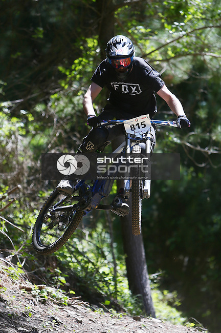 Tots DH Mountain Broken Axe. Sharlands Creek Nelson, New Zealand. 1 November 2014. Evan Barnes/www.shuttersport.co.nz