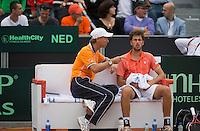 16-09-12, Netherlands, Amsterdam, Tennis, Daviscup Netherlands-Suisse,    Robin Haase on the Dutch bench with captain Jan Siemerink