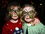 Grace Taaffe and Melissa Meade pictured at the Collon children's Christmas Disco. Photo:Colin Bell/pressphotos.ie