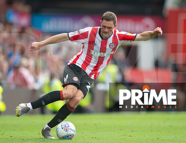 Brentford's Henrik Dalsgaard during the Sky Bet Championship match between Brentford and Birmingham City at Griffin Park, London, England on 3 August 2019. Photo by Andrew Aleksiejczuk / PRiME Media Images.