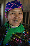 Ethnic Black Hmong tribe woman, Northern Vietnam.