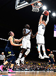 SAN ANTONIO, TX - APRIL 02: Donte DiVincenzo #10 of the Villanova Wildcats rebounds the ball against the Michigan Wolverines during the second half of the 2018 NCAA Men's Final Four National Championship game at the Alamodome on April 2, 2018 in San Antonio, Texas.  (Photo by Brett Wilhelm/NCAA Photos via Getty Images)