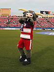 The FC Dallas mascot in action during the game between the FC Dallas and the Real Salt Lake at the FC Dallas Stadium in Frisco,Texas.
