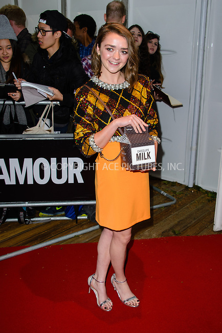 WWW.ACEPIXS.COM<br /> <br /> June 2 2015, London<br /> <br /> Maisie Williams at the Glamour Women Of The Year Awards 2015 at Berkeley Square Gardens on June 2 2015  in London<br /> <br /> By Line: Famous/ACE Pictures<br /> <br /> <br /> ACE Pictures, Inc.<br /> tel: 646 769 0430<br /> Email: info@acepixs.com<br /> www.acepixs.com