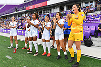 Orlando, FL - Saturday July 20, 2019:  Sky Blue FC Bench during a regular season National Women's Soccer League (NWSL) match between the Orlando Pride and the Sky Blue FC at Exploria Stadium.