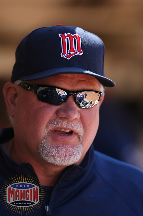 OAKLAND, CA - JULY 22:  Manager Ron Gardenhire #35 of the Minnesota Twins watches from the dugout against the Oakland Athletics during the game at the Oakland-Alameda County Coliseum on July 22, 2009 in Oakland, California. Photo by Brad Mangin