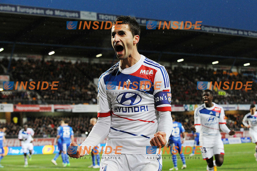 joie de Maxime Gonalons (Lyon) apres son but .Football Calcio 2012/2013.Ligue 1 Francia.Foto Panoramic / Insidefoto .ITALY ONLY