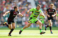 Alex Waller of Northampton Saints goes on the attack. Aviva Premiership match, between Saracens and Northampton Saints on September 2, 2017 at Twickenham Stadium in London, England. Photo by: Patrick Khachfe / JMP