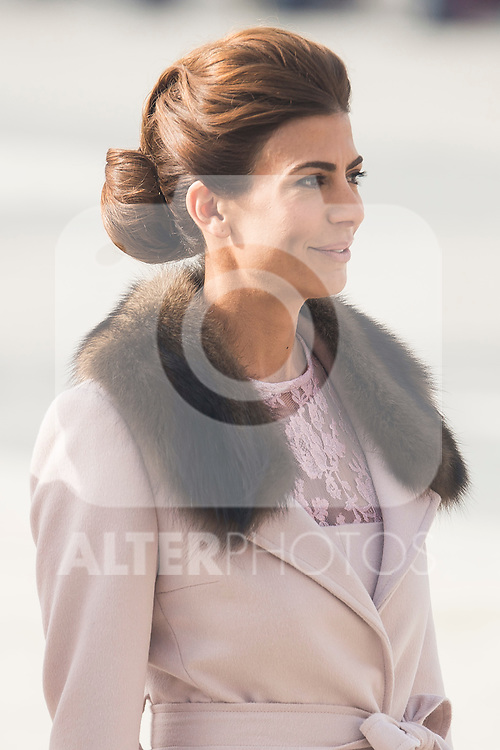 Juliana Awada arrives to the Real Palace during state visit of the president of Argentinian Republic, Sr. Mauricio Macri and Sra Juliana Awada at Real Palace in Madrid, Spain. February 19, 2017. (ALTERPHOTOS/BorjaB.Hojas)
