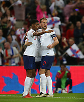 England's Marcus Rashford celebrates with Harry Kane after scoring his side's first goal<br /> <br /> Photographer Rob Newell/CameraSport<br /> <br /> UEFA Nations League - League A - Group 4 - England v Spain - Saturday September 8th 2018 - Wembley Stadium - London<br /> <br /> World Copyright &copy; 2018 CameraSport. All rights reserved. 43 Linden Ave. Countesthorpe. Leicester. England. LE8 5PG - Tel: +44 (0) 116 277 4147 - admin@camerasport.com - www.camerasport.com