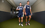 Jamison Gobson-Park (L), Rieko Ioane. Captain's Run. Suva, Fiji. July 10 2015. Photo: Marc Weakley