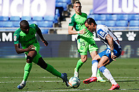 5th July 2020; RCDE Stadium, Barcelona, Catalonia, Spain; La Liga Football, Real Club Deportiu Espanyol de Barcelona versus Leganes; Amadou beaten by the cutback from Raúl de Tomás of Espanyol