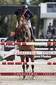 28th September 2017, Real Club de Polo de Barcelona, Barcelona, Spain; Longines FEI Nations Cup, Jumping Final; Guy WILLIAMS  riding Rouge de Ravel during the first round of the Nations Cup