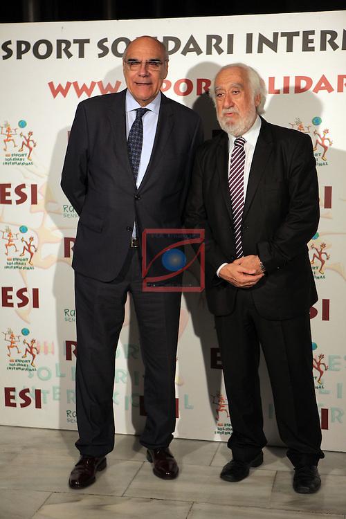 XIe Sopar Solidari d'ESI (Esport Solidari Internacional).<br /> Josep Maldonado &amp; Salvador Alemany.