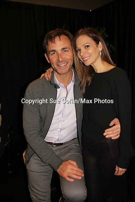 General Hospital's actors James Patrick Stuart & Tamara Braun- on October 5, 2019 at the Hollywood Casino, Columbus, Ohio with a Q & A and a VIP meet and greet. (Photo by Sue Coflin/Max Photo)