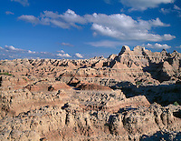 SDBD_001 - USA, South Dakota, Badlands National Park, Eroded, sedimentary formations dominate southeasterly view from the Door Trail, North Unit.