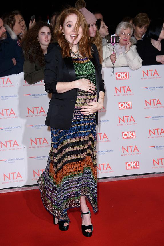 Angela Scanlan<br /> arriving for the National Television Awards 2018 at the O2 Arena, Greenwich, London<br /> <br /> <br /> ©Ash Knotek  D3371  23/01/2018