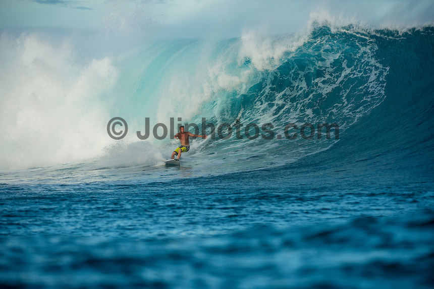 CLOUDBREAK, Namotu Island/Fiji (Wednesday, June 12, 2013) - Taj Burrow (AUS)  surfing Cloudbreak.<br /> Photo: joliphotos.com