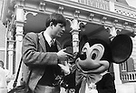 Photographer Ron Bennett and Mickey Mouse at Disneyland amusement park Anaheim California dedicated July 17 1955, Fine Art Photography by Ron Bennett, Fine Art, Fine Art photography, Art Photography, Copyright RonBennettPhotography.com ©