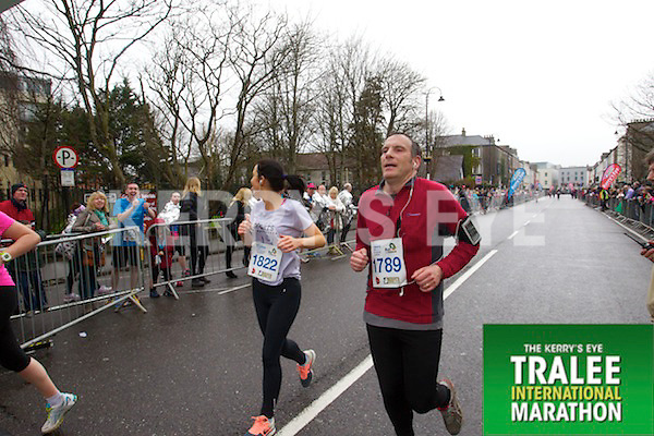 Andrina Carmody 1822,Kevin Wiseman 1789, who took part in the Kerry's Eye Tralee International Marathon on Sunday 16th March 2014.