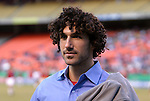 16 October 2004: Ethan Zohn, of Survivor fame, works as a sideline announcer for the Galaxy. The Kansas City Wizards defeated the Los Angeles Galaxy 1-0 at Arrowhead Stadium in Kansas City, MO in a regular season Major League Soccer game..