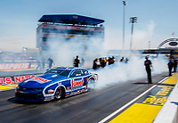 Sep 2, 2017; Clermont, IN, USA; NHRA pro stock driver Jason Line during qualifying for the US Nationals at Lucas Oil Raceway. Mandatory Credit: Mark J. Rebilas-USA TODAY Sports