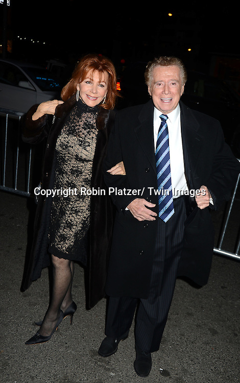 Joy and Regis Philbin attends Rogers +  Hammerstein's Cinderella Broadway Opening night on March 3, 2013 at the Broadway Theatre in New York City.