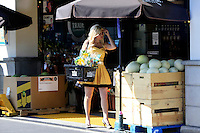 """LOS ANGELES - AUG 2: Ariane Bellamar who currently stars  in ABC Family's """"Beverly Hills Nannies"""" is seen out shopping for flowers and melons on August 2, 2012 in Los Angeles, California"""