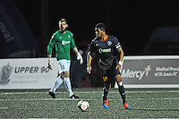 Fenton, Missouri - April 11, 2015: St Louis F.C. played to a 1-1 draw with Pittsburgh Riverhounds at World Wide Technology Soccer Park.