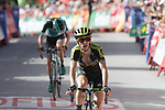 Simon Yates (GBR) Mitchelton-Scott crosses the finish line in 8th place at the end of Stage 4 of the La Vuelta 2018, running 162km from Velez-Malaga to Alfacar, Sierra de la Alfaguara, Andalucia, Spain. 28th August 2018.<br /> Picture: Colin Flockton | Cyclefile<br /> <br /> <br /> All photos usage must carry mandatory copyright credit (&copy; Cyclefile | Colin Flockton)
