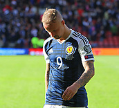 June 10th 2017, Hampden park, Glasgow, Scotland; World Cup 2018 Qualifying football, Scotland versus England; A dejected Leigh Griffiths leaves the park at the end of the match after his 2 goals were wiped out by Ebgland in injury time