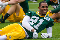 Green Bay Packers safety Ha Ha Clinton-Dix (21) during an Organized Team Activity on May 23, 2017 at Clarke Hinkle Field in Green Bay, Wisconsin.  (Brad Krause/Krause Sports Photography)