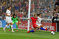 Saint Paul, MN - Tuesday September 03, 2019 : Kristen Hamilton #25, Mónica Mendes #2 during a 2019 Victory Tour match between Portugal and the United States at Allianz Field, on September 03, 2019 in Saint Paul, Minnesota.