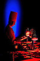 A chef prepares meals during a banquet, held at the Rosen Shingle Creek in Orlando, Fla.