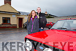 Sarah Shanahan and Alan O'Halloran. at the Abbeydorney Vintage & Classic Car & Tractor Run on Saturday