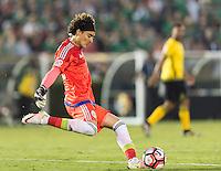 Pasadena, CA - Thursday June 09, 2016: Guillermo Ochoa during a Copa America Centenario Group C match between Mexico (MEX) and Jamaica (JAM) at Rose Bowl Stadium.