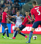 June 10th 2017, Ullevaal Stadion, Oslo, Norway; World Cup 2018 Qualifying football, Norway versus Czech Republic; (C)  Vladimir Darida of Czech Republic is closed down during the FIFA World Cup qualifying match