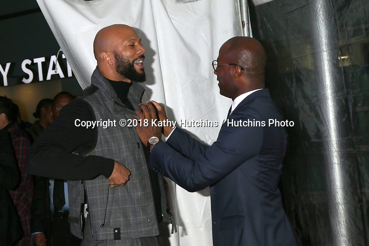 "LOS ANGELES - DEC 4:  Common, Barry Jenkins at the ""If Beale Street Could Talk"" Screening at the ArcLight Hollywood on December 4, 2018 in Los Angeles, CA"